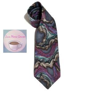 J Garcia Volcano Collectors Edition Blue Silk Tie